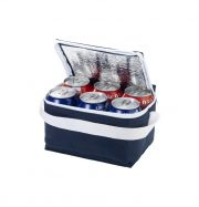 Spectrum non-woven 6-can cooler bag. Compact cooler bag suitable for up to 6 cans. Non woven 80 g