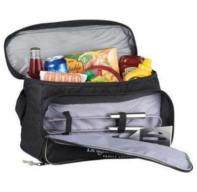 Grill and Chill Cooler Bag and 3pc BBQ Tools Set Grill and Chill set